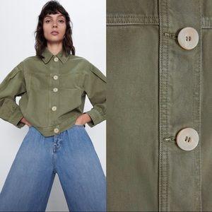 Zara Denim Jacket with Buttons NWT